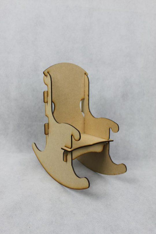 schommelstoel samengesteld uit 6 onderdelen