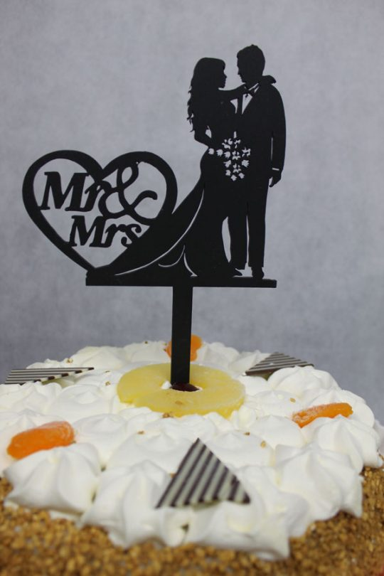 taarttopper man-vrouw mr&mrs