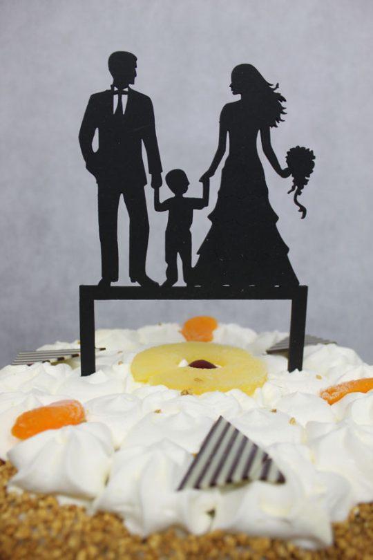 taarttopper huwelijk man-vrouw-zoon