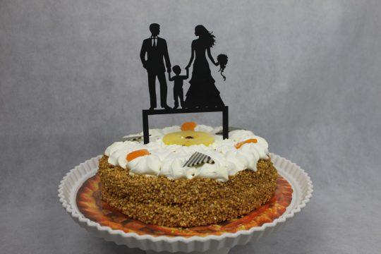 taarttopper man+vrouw met jongen