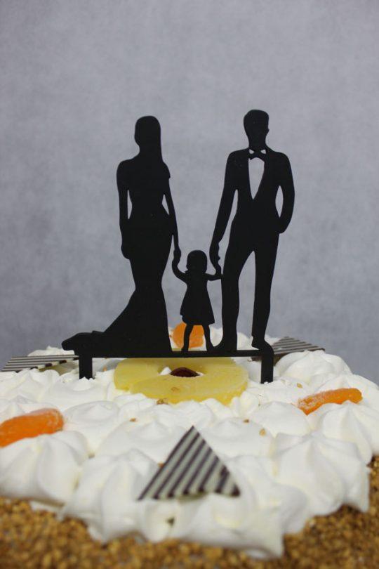 taarttopper echtpaar en dochter