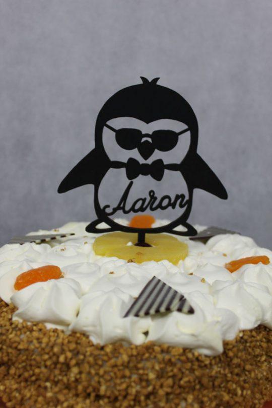 pinquin met uw gewenste naam ala taarttopper